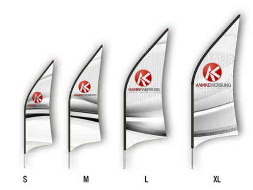 Beachflag Fin Set (2240 mm x 700 mm)