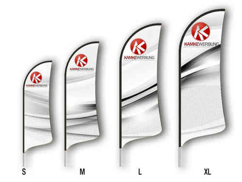 Beachflag Wing Set (2340 mm x 700 mm)